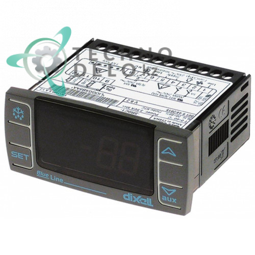 Контроллер Dixell XR06CX-5R0C1 71x29мм 230VAC датчик NTC 0 до +60°C E20A113F0D00 для MCC Trading International, RWA