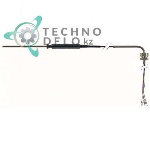 Термощуп PTC ø4x100мм кабель PTFE L-1.8м резьба 1/4 202738 для печи MKN CCE60, CCE63, CPE60, CPE63