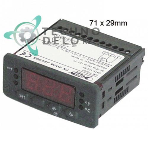 Контроллер EVCO EVK411 71x29мм 12VAC датчик TC (J,K) 2 реле IP65 -100 до +800°C для GGF, Pizza Group и др.