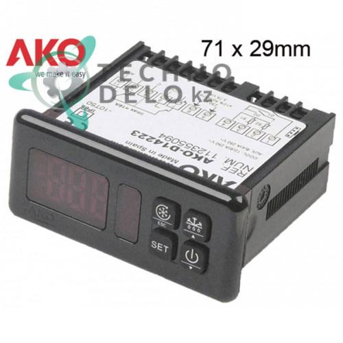 Контроллер AKO D14223 RS485 -50 до +99°C 71x29мм 230VAC датчик NTC/PTC IP65