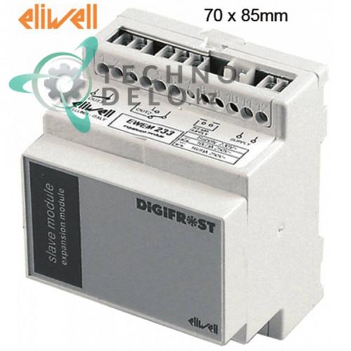 Модуль мощности Eliwell EWEM233 DS340000DC700 DIGIFROST 70x85мм 230VAC датчик NTC/PTC 3 реле -55 до +150°C TKS0314