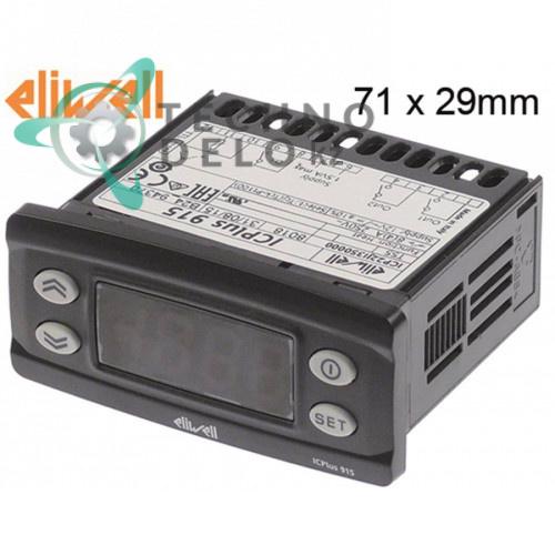 Контроллер Eliwell ICPlus915 ICP22JI35000 71x29/78x37мм 12VAC/VDC датчик Pt100/TC для Cuppone, EKU, Electrolux и др.