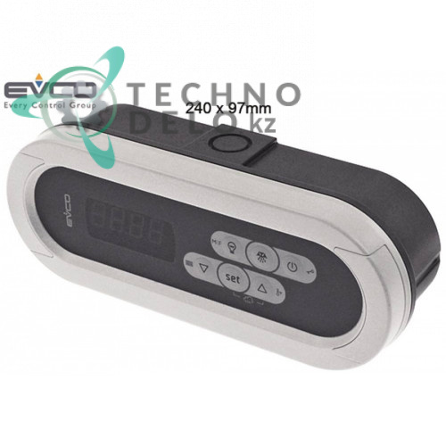 Контроллер EVCO ASQX214000 240x97мм 230VAC датчик NTC/PTC 4 реле корпус IP65 -50 до +150°C