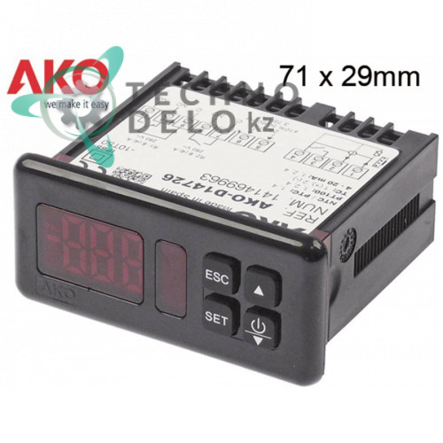 Контроллер AKO D14726 71x29 230VAC датчик NTC/PTC/Pt100/TC IP65