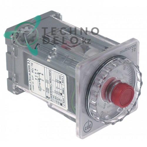 Реле времени CDC 1800 Sc726 диапазон 0 с-30 ч 24VAC 2x6A с ручкой регулировки монтажные размеры 65x65мм для Zanussi и др.