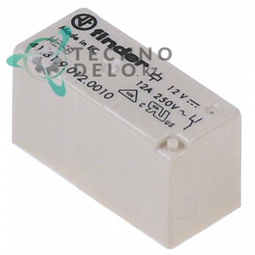 Реле Finder 12VDC 1CO 250В 12А 120465 для Comenda FC/FC543E/FCHR и др.
