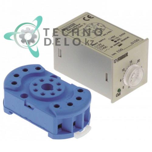 Реле времени Fiber E50 1CO 1-10 мин. 110-240VAC/12-48VDC 5А для оборудования Scotsman и др.