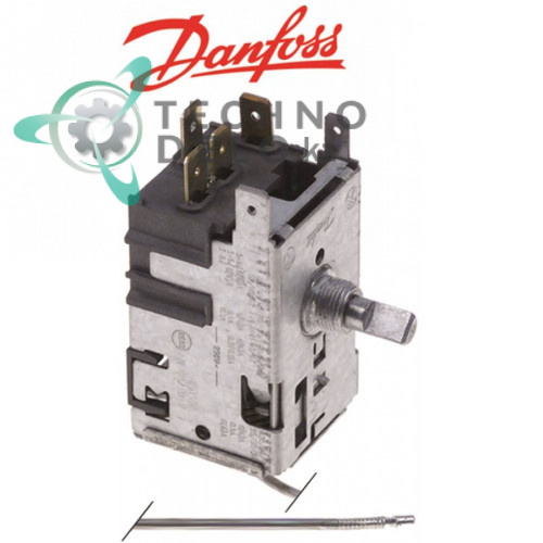 Термостат Danfoss 077B2220 трубка d2мм L-860 мм диапазон -34 до -15°C 7038257 для оборудования La Sommeliere и др.