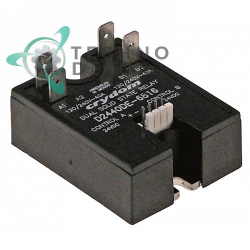 Реле полупроводниковое Crydom D2440DE-6816 2 фазы 40A 120-240V 24VDC 59x46мм 101284 печи TurboChef и др.