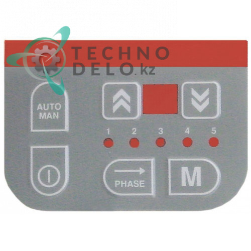 Стикер с обозначениями кнопок панели управления 12018349 R663010 пароконвектомата Fagor HMP 611/1011 и др.