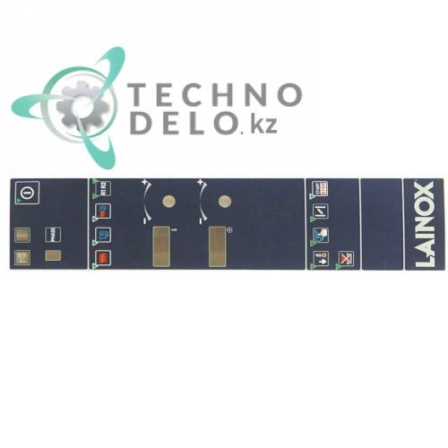 Стикер 67010650 LAR67010650 R67010650 с обозначениями элементов управления для печи LAINOX ME106D/ME110D и др.