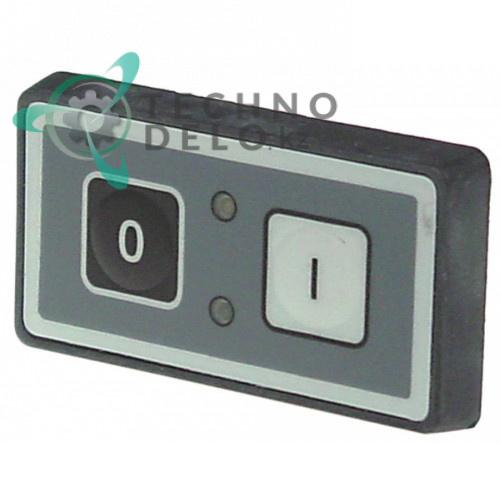 Панель управления 2 кнопки (75x40мм) I1680 для слайсера Omas, Bizerba и др.