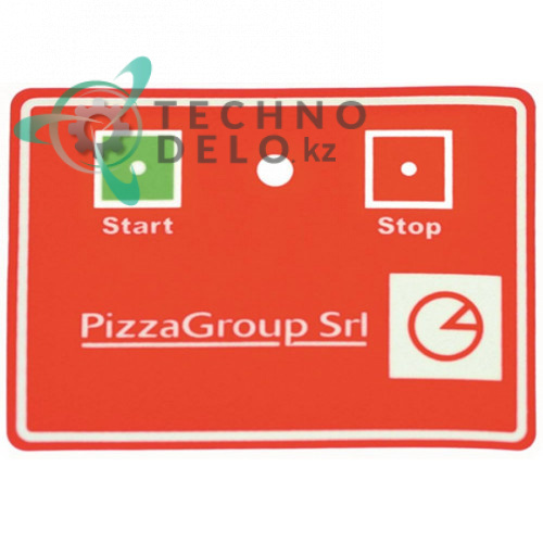 Стикер Start/Stop 100x80мм 5800370 A93OL78007 CO1909 тестораскаточной машины Amatis, Pizza Group, Fimar и др.