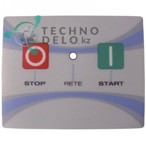 Стикер DLX30006 панели управления с обозначениями кнопок 100x80мм тестораскаточной машины Mecnosud DL 30-40