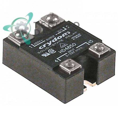 Реле полупроводниковое Crydom HD4850 1 фаза 50A 480V 3-32VDC 58x45мм 0K5070 18025431 для плиты Electrolux и др.
