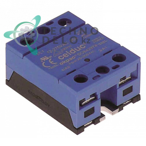 Реле силовое Celduc SOBA2974 1 фаза 25A 12-275V 20-265VAC 57x45мм