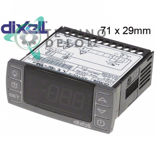 Контроллер Dixell XR10CX-5N0C0 71x29мм 230VAC датчик NTC/PTC 1 выход реле NO-20A(8) диапазон измерений -50 до +150°C