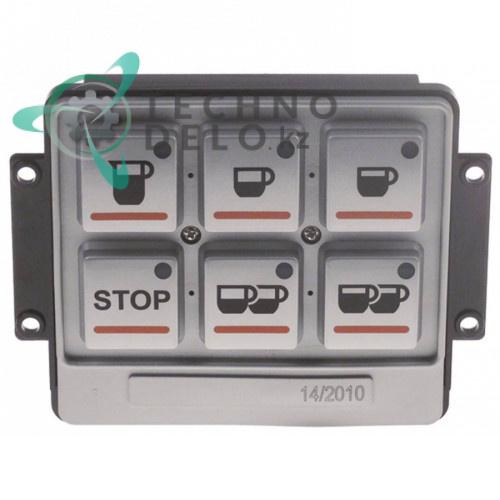Панель управления 100x90мм 6 кнопок 13123 для кофемашины Brasilia DeCurtis и др.