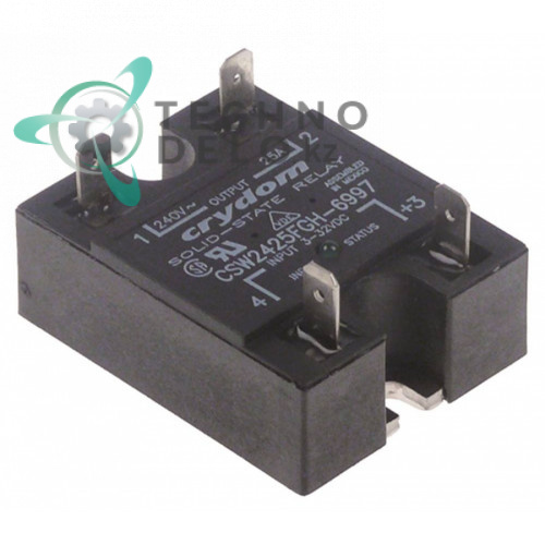 Реле полупроводниковое Crydom CSW2425FGH-6997 1 фаза 25A 240V 3-32VDC 58x45мм кофемашины Bravilor Bonamat