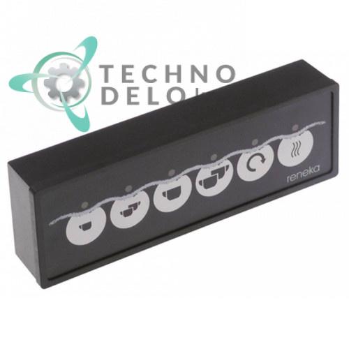Панель управления Gicar LED 137x46 6 кнопок 9006779 для кофемашины Reneka VIVA