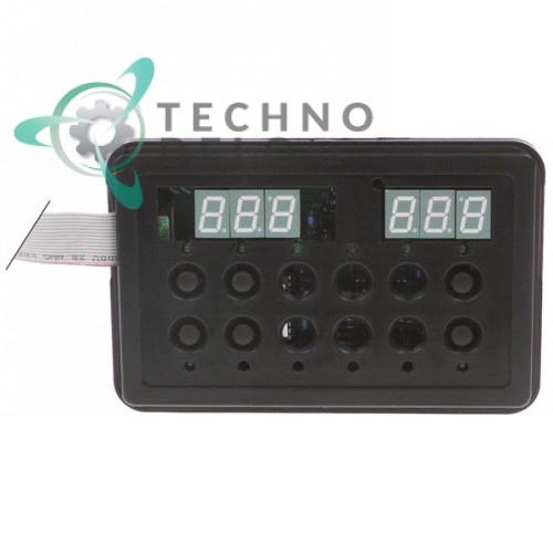 Блок управления (плата 50570) 6 кнопок 145x90мм для Dihr, Kromo, Olis и др.