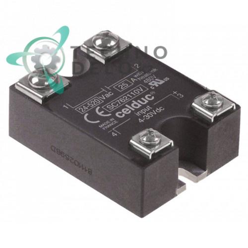 Реле Celduc SC762110V 1 фаза 25A 24-520М 58x44мм RIC0003591 для печи MBM, Repagas и др.