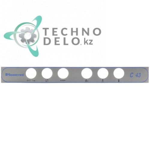 Стикер обозначения элементов управления 420x45мм 33713 посудомоечной машины Hoonved C43 и др.