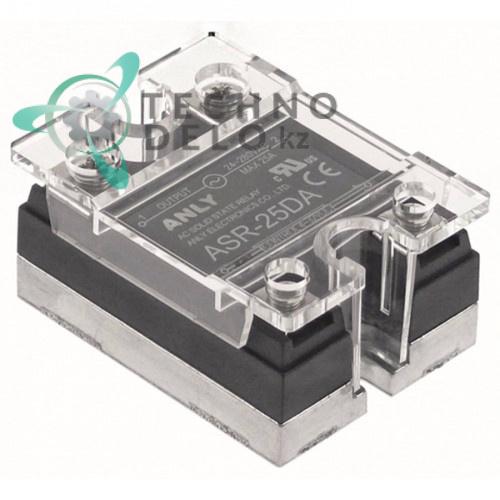 Реле твердотельное Anly ASR-25DA 1 фаза 25A 24-280V/4-32VDC 47,5x43мм для оборудования HoReCa и др.
