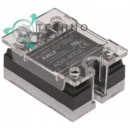 Реле твердотельное Anly ASR-40DA 1 фаза 40A 24-280V/4-32VDC 47,5x43мм для оборудования HoReCa и др.