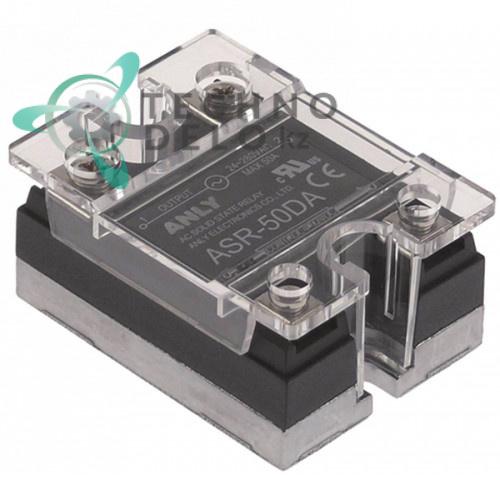 Реле твердотельное Anly ASR-50DA 1 фаза 50A 24-280V/4-32VDC 47,5x43мм оборудования HoReCa и др.