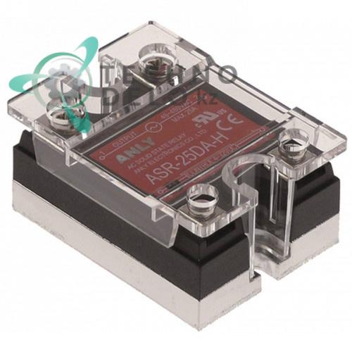 Реле твердотельное Anly ASR-25DA-H 1 фаза 25A 48-480V/4-32VDC 47,5x43мм для оборудования HoReCa и др.