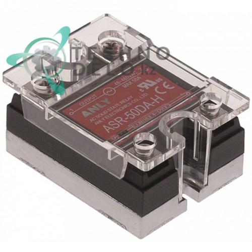 Реле твердотельное Anly ASR-50DA-H 1 фаза 50A 48-480V/4-32VDC 47,5x43мм для оборудования HoReCa и др.