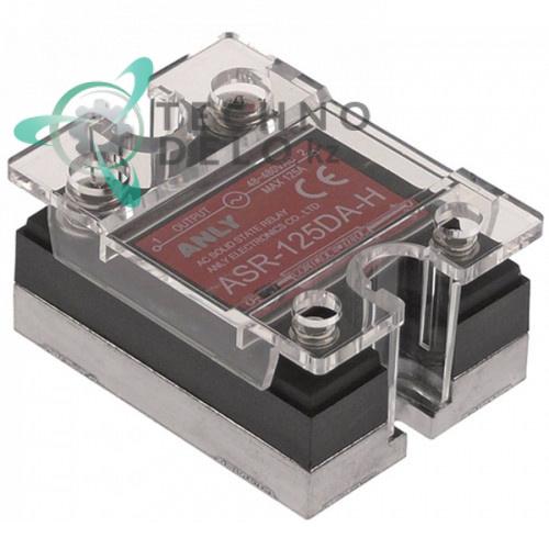 Реле твердотельное Anly ASR-125DA-H 1 фаза 125A 48-480V/4-32VDC 47,5x43мм для оборудования HoReCa и др.