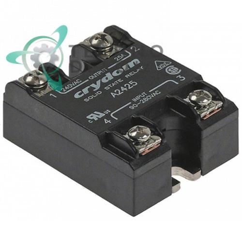 Реле полупроводниковое Crydom A2425 1 фаза 25 A 240 V 90-280 VAC 57x44,6 мм RL-3736 для печи Alto Shaam и др.