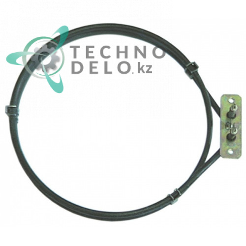 Тэн 1250Вт 230В D-198мм/210мм L-228мм H-30мм трубка d-6,3мм нагревательный элемент конвекционного типа
