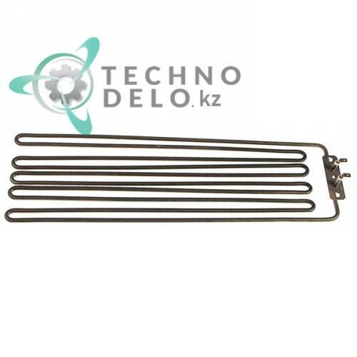 Тэн (1100Вт 230В) 446x127x18мм фланец 70x22мм трубка d-6,3 мм сухой нагреватель REHEIZK для гриля IME Turbo