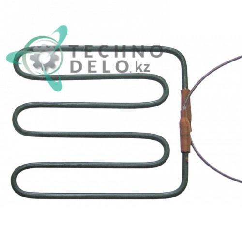 Тэн 1000Вт 230В 160x155мм трубка d-6,3мм сухой нагревательный элемент для контактного профессионального гриля