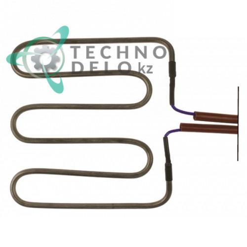 Тэн 1000Вт 230В 182x195x12мм трубка 6,3мм 30023500 CO4415 для гриля Bertos PD-VTR, Fimar PE25L, Elettrobar и др.