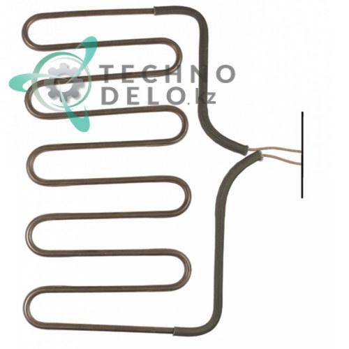 Тэн 1000Вт 230В 185x310x28мм трубка 6,9мм 30024100 CO4433 для гриля Bertos PM-VTR, Fimar PE25L/PV35L, MBM и др.