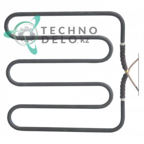 Тэн 1000Вт 230В 180x185x15мм трубка d6,3мм сухой нагреватель 921008, 921038 гриля контактного Elettrobar, Eurotec, MBM