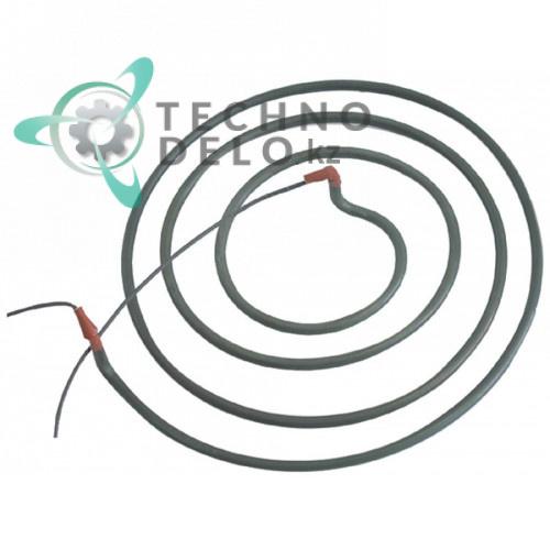 Тэн (3600Вт 230В) D-375мм H-40мм трубка d-8,5мм D02022 для блинницы Roller Grill 400FE, Diamond