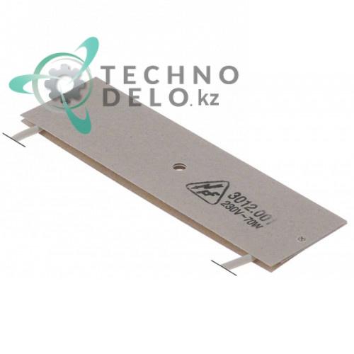 Нагреватель плоский 70Вт 230В 128x38мм 11624 для Melitta