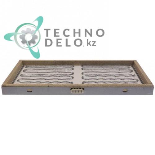 Конфорка нагреватель 3700W (2 x 1850)Вт 230В 480x250x35мм для Trinox