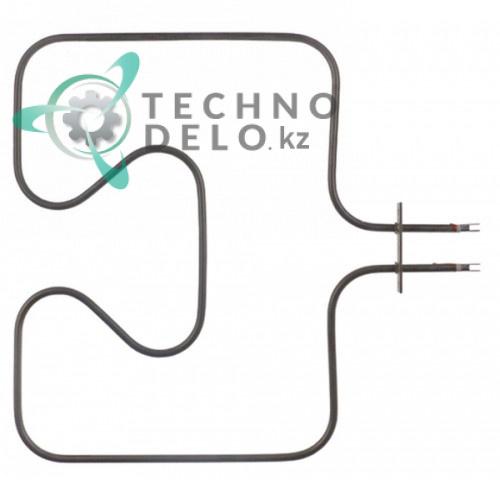 Тэн 1000Вт 230В 335x345мм фланец 80x16мм трубка d6,3мм сухой нагревательный элемент 005218 печи Electrolux, Zanussi