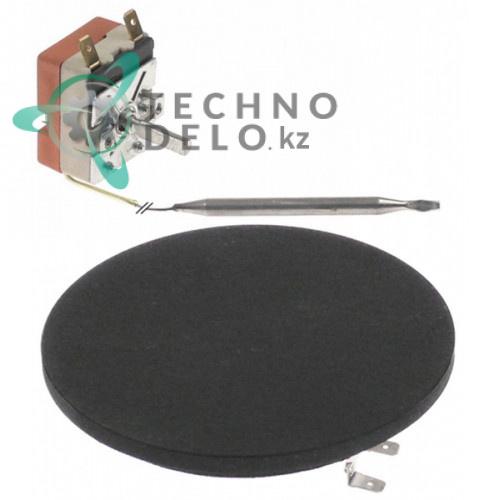 Нагреватель плоский 800Вт 230В ø125мм 020051028 с термостатом для Bartscher