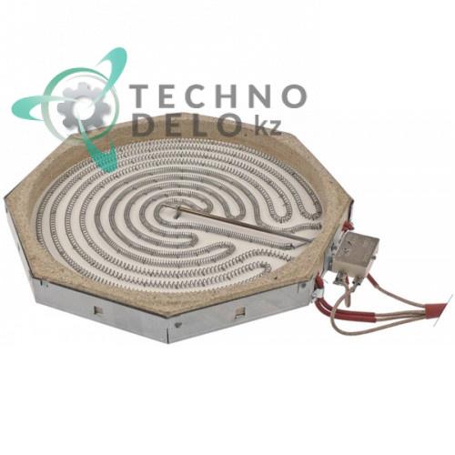 Конфорка AD 100.355 3400Вт 230В 300x300мм CR0509610 для гриль-плиты Mareno V9-4E, CT98EC и др.