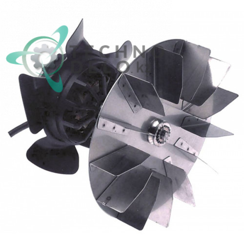 Вентилятор EBM-Papst R2E180-AI01-12 крыльчатка D-180мм 230В 120Вт 0,53А 2000 об/мин для Franke, Salvis и др.