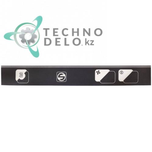 Стикер обозначения кнопок 405x59мм 909135 панели управления профессиональной посудомоечной машины Silanos