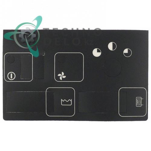 Стикер обозначения кнопок 180x110мм 906735 панели управления посудомоечной машины Silanos N1000