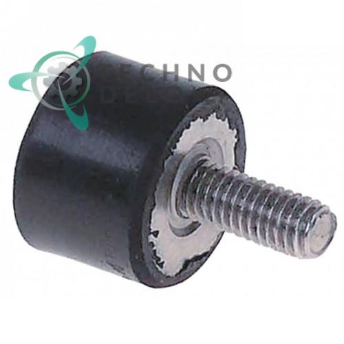 Виброгаситель электродвигателя H-15мм ø20мм / резьба M6 для оборудования Fagor, Mastro и др.